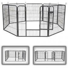 8 Panel Pet Play Pen Dog Puppy Animal Rabbit Large Cage Run Garden Playpen Fence