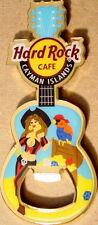 Hard Rock Cafe CAYMAN ISLANDS 2010 GUITAR MAGNET Bottle OPENER Girl with Parrot