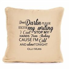Olly Murs Cotton Cushion Dear Darling Song Lyrics Love Wedding Valentines Gift