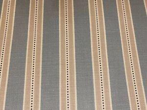 Holm  Stripe Panama Cotton Blue 140cm wide  Oslo  Curtain/Craft Fabric
