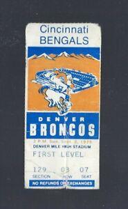 VINTAGE 1979 NFL STEVE WATSON DEBUT BENGALS @ DENVER BRONCOS TICKET STUB Sept 2
