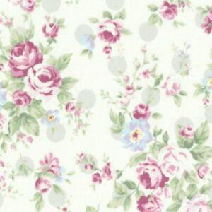 Cottage Chic & Shabby Lecien Princess Rose 31265L-90 w/Grey Polka Dots BTY
