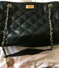 Genuine DKNY leather quilted Womens Handbag (black)