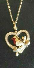Robin Pájaro Collar de Oro Cristal ~ ~