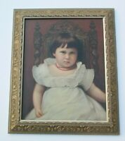 ANTIQUE 19TH CENTURY OIL PAINTING ESTATE HEIRLOOM MASTER MASTERFUL PORTRAIT BABY