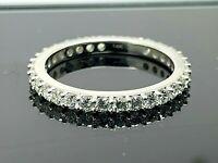 Eternity Band Diamond Ring 1.00ctw VS G-H 14k White Gold 2.2mm Women's Size 7