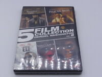 5 FILM COLLECTION DENZEL WASHINGTON PELICAN BRIEF, ELI, MACLOM X, FALLEN DVD NEW