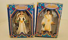 Vintage Disney Christmas Ornaments Aladdin and Jasmine
