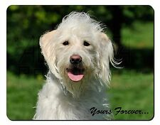 White Labradoodle 'Yours Forever' Computer Mouse Mat Christmas Gift Id, AD-LD3yM