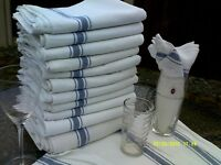 2 x Glass cloth tea towel 100% cotton cloths STRONG FLATWEAVE