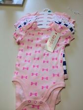 CAT & JACK BABY CLOTHING LOT OF 5 0-3 MONTHS PINK WHITE BLUE NEW WITH TAG
