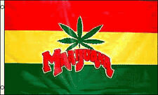 Marijuana Flag 3x5 ft Leaf Rasta Colors Red Yellow Green Medical Mmj Cannabis Mj