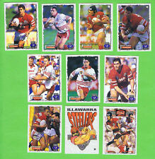 1995 ILLAWARRA STEELERS  SERIES 2 RUGBY LEAGUE CARDS