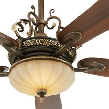 52 in. LED Ceiling Fan Remote Elegant Old World Bowl Light Tuscan Fixture