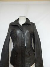 Andrew Marc New York Moto Leather Jacket S ANE Grey  New with Defects