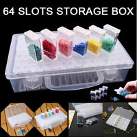28/42/64Slots Bottles Diamond Painting Storage Box Kit Art Nail Accessories Case