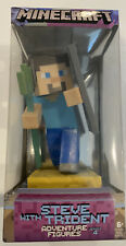 Minecraft STEVE with TRIDENT Adventure Figures Series 4 NEW in Box