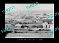 OLD POSTCARD SIZE PHOTO BROKEN HILL NEW SOUTH WALES, VIEW OF THE TOWN c1907 2