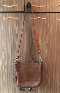 Vintage Coach Crossbody Bag Brown Hunting Millitary Rare