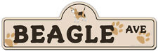 Beagle Street Sign | Funny Home Decor Garage Wall Lover Plastic Gag Gift