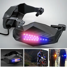 LED Light Motorcycle Hand Grip Guard Baffle Waterproof Windproof Hood Protection