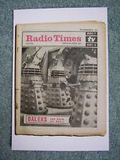 NEW Postcard Vtg Radio Times cover November 1966 Dr Doctor Who Daleks Enemies