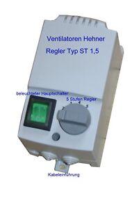 5 Stufen Regler Ventilator Lüfter Trafo Drehzahlregler Steuerung Motor 230 Volt