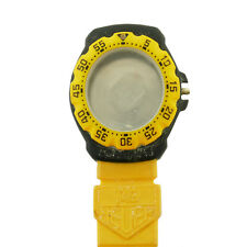 TAG HEUER FORMULA 1 380.513/1 YELLOW BEZEL / BLACK CASE FOR PARTS OR REPAIRS