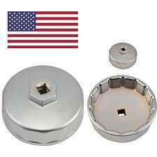 Oil Filter Kit Fits For Mercedes Benz,VW,Audi 74mm 14 Flutes Wrench Cap Tools
