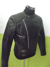vintage 70`s Motorradjacke Bikerjacke biker oldschool motorcycle leather jacket