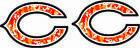Chicago Bears Orange Camo/ Black outline Mini Football Helmet Decals
