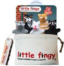 CAT HAND Knitted dito burattini con tela Storage Bag