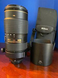 Nikon 80-400mm AF-S f/4.5-5.6 G ED VR Zoom Lens. Mint Condition.