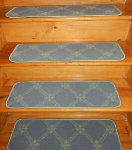 14 Step 9'' x 30'' + 1 Landing 28'' x 30'' Tufted carpet Wool Woven Stair Treads