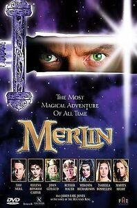 Merlin - Sam Neill Helena Bonham Carter DVD Authentic U.S. EXCELLENT
