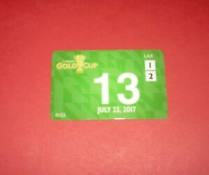 2017 CONCACAF FOOTBALL GOLD CUP SEMI MEXICO V JAMAICA OFFICIAL MEDIA PASS TICKET