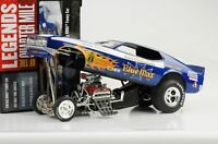 1971 Blue Max Ford Mustang Funny Car Dragster Quarter Mile 1:18 Auto World Ertl