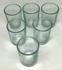 "Clear Glass Votive Tea Light Candle Cup Holder Vase 2 1/2"" Lot 6 Table Decor"