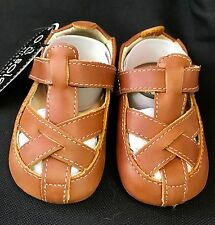 Old Soles Australia Baby Children's Toddler Shoes Soft Tan Leather Sz 3 Boy Girl
