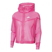 Nike Windrunner Transparent Jacket Women's Pink White Activewear Windbreaker Top