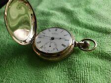 Amerikanische Waltham Sprungdeckel Taschenuhr 18s von 1890
