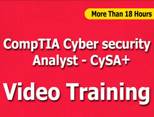 CompTIA Cyber Security Analyst CySA+ EXAM Video Training Tutorials CBT +18 Hrs