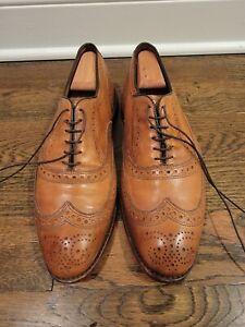 Allen Edmonds McAllister Brown Leather Wingtip Oxford Dress Shoes Men's 10.5 E