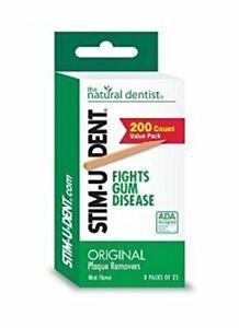 Stim-U-Dent Plaque Removers 24 Packs of 25 Picks/Pack 600 Picks - Mint Flavor