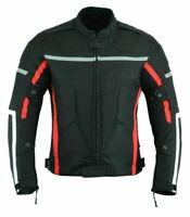 3 Layer Mens Motorcycle Waterproof Cordura Textile Jacket Motorbike CE Armours