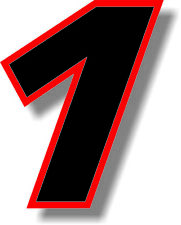 Black race number with red  border 3 inch sticker/vinyl/ graphic