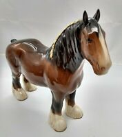 Clydesdale Shire Heavy Horse by Beswick, Glossy Deep Chestnut 1960's