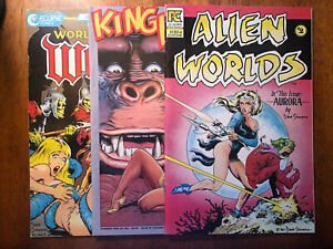 Lot of 3 Dave Stevens Comics Covers 1983-1990 Pacific Eclipse Monster Comics