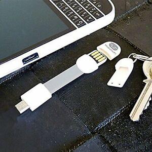 True Utility Micro USB auf USB Weiß TU290White Schlüsselanhänger *Neu*