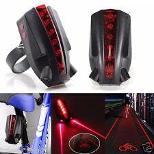 2Laser 5LED hinteres Fahrrad Bike Rücklicht Lichtstrahl Sicherheit Warnung Licht